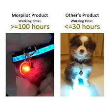 dog collar lights waterproof morpilot dog cat pet collar light 6pcs waterproof led dog collar