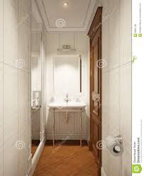classic modern bathroom wc interior design stock illustration