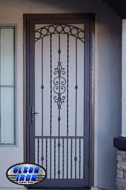 custom wrought iron security doors and bars by iron las