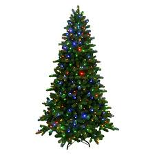shop ge 7 5 ft pre lit spruce artificial tree with