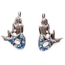mermaid earrings with starfish earrings