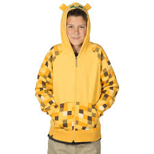 buy minecraft ocelot premium zip up hoodie for kids