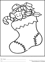 christmas coal stocking coloring pictures pin