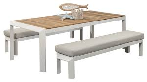 dining table and bench set aluminium outdoor dining sets coast bench set segals outdoor