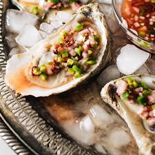 mignonette cuisine oysters with bacon blood orange and jalapeño mignonette beyond