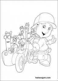 free handy manny motorcycle tools coloring pages printable