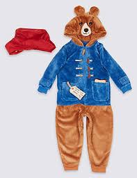 paddington clothes paddington onesie with hat 9 months 7 years m s