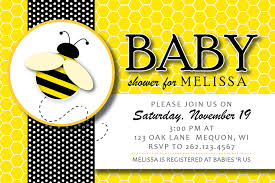 bee baby shower template bumble bee baby shower invitations