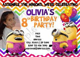 minions birthday invitation free thank you card birthday