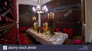 the private dining room at annabel u0027s club in london uk stock