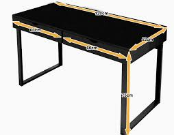 Black Wood Office Desk Stylish Wood Office Desk With Two Drawers Finding Desk