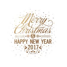 merry and happy new year 2017 lettering design creative