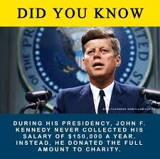 Charity Meme - fact check john f kennedy donated his entire presidential salary