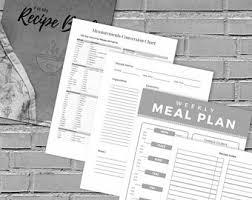 recipe template etsy