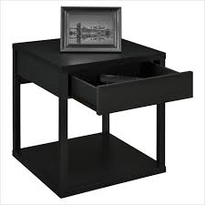 black side table with shelf altra furniture square end table in black contemporary side black
