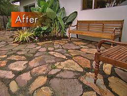 Rock Patio Design How To Create A Mulched Flagstone Patio Flagstone Patio