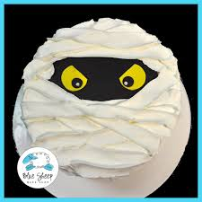 buttercream halloween mummy cake blue sheep bake shop