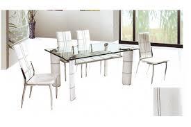 table de cuisine en verre trempé table à manger en verre trempé alfred simili finition croco noir