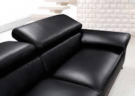 Modern Black Leather Sofa Set Vg724 Leather Sofas