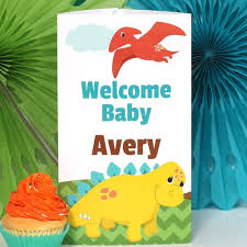 dinosaur baby shower decorations