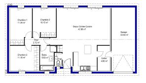 plan maison 4 chambre plan maison plain pied 4 chambres avec suite parentale amazing plan