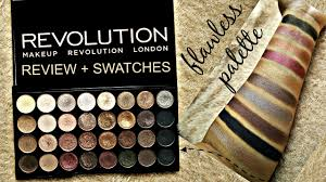 review u0026 swatches makeup revolution london flawless eyeshadow