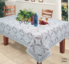 crochet lace tablecloth 60x120 rectangular knitted