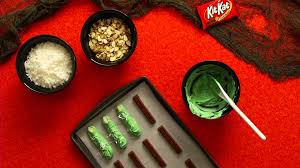 hershey u0027s halloween recipes and crafts kit kat fingers youtube