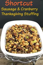 shortcut sausage and cranberry thanksgiving foody