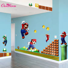 kids murals promotion shop for promotional kids murals on wall stick toy wall sticker removable decal cartoon large home decoration art nursery kid mural with yoshi super mario pattern