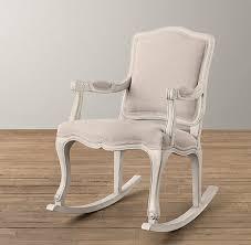 french vintage upholstered rocker