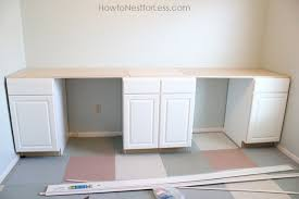 Diy Craft Desk Craft Room Desk Tutorial How To Nest For Less