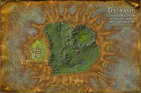 map quests teldrassil map with locations npcs and quests of warcraft
