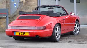 1990 porsche 911 red used porsche 911 964 carrera 4 cabriolet for sale in leeds west