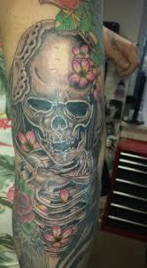 old skin head tattoo calf tattoo men with tattoos