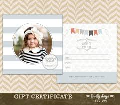 certificate photoshop gift certificate template