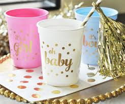 gold baby shower baby shower party cups set or 25