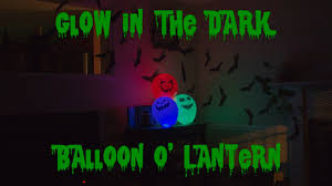 diy halloween balloon o u0027 lantern glow in the dark decorations fast