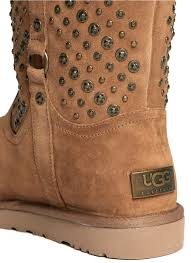 ugg womens eliott boots black ugg elliot studded boots in brown lyst