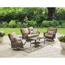 Walmart Patio Conversation Sets Better Homes And Gardens Colebrook 4 Piece Outdoor Conversation