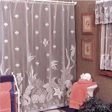 Seashell Fabric Shower Curtain Heritage Lace Fabric Shower Curtains Ebay