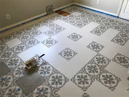 jazz up an old kitchen floor with a tile stencil stencil stories