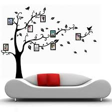black wall decal sticker removable photo frame tree family quote