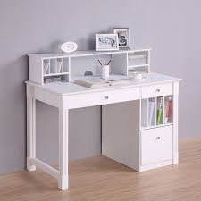 Wooden Computer Desk With Hutch by Deluxe White Wood Computer Desk With Hutch Desks Trays And Drop