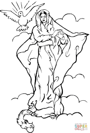 virgin mary coloring page free printable coloring pages