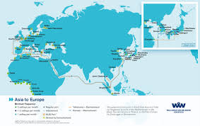 Africa And Asia Map by Overseas Shipping Route Maps L Wallenius Wilhelmsen Logistics