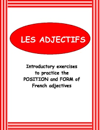 french adjectives introductory exercises by french teacher canada