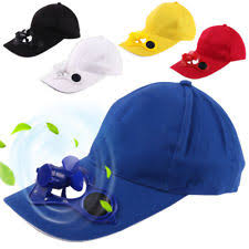 hat with fan built in solar fan hat ebay
