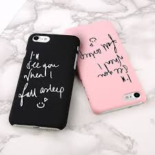 pattern fashion quotes for iphone 7 fashion korean style matte english couple quotes simple