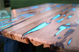 making a wood table diy wood table collects sunlight and glows at night